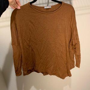 ZARA light brown asymmetrical top